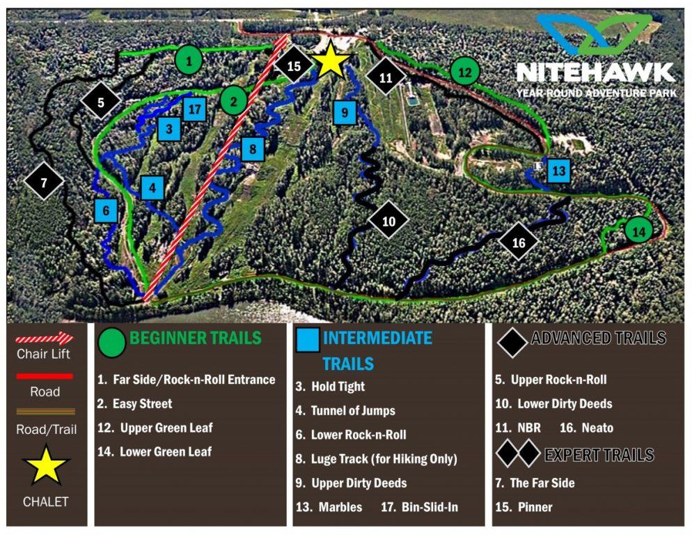 Bike Park Trail Map - 2016